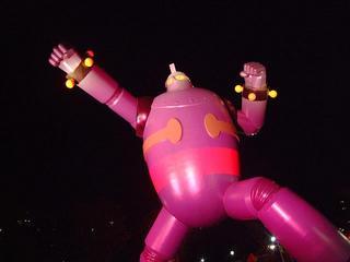 ピンク色の鉄人さん